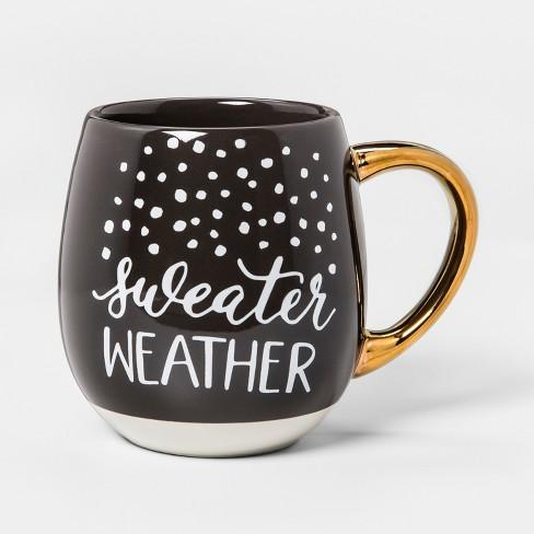 Stoneware Sweater Weather Mug 17.5oz Brown/White/Gold - Threshold™ - image 1 of 1