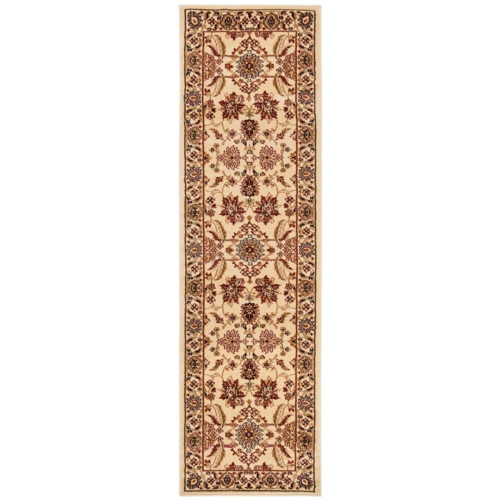 2'3X12' Loomed Floral Runner Rug Ivory - Safavieh