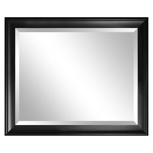 Rectangle Summit Decorative Wall Mirror with Black Frame - Alpine ...