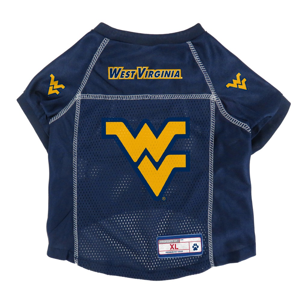 West Virginia Mountaineers Little Earth Pet Football Jersey - S, Multicolored