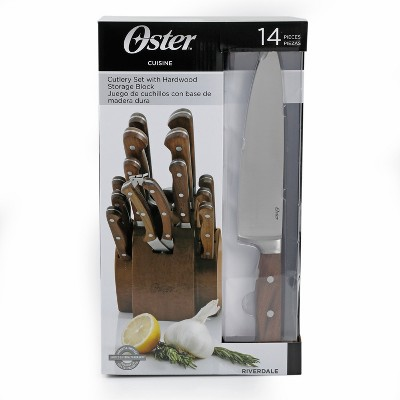 Oster Cuisine Riverdale 14pc Cutlery Block Set