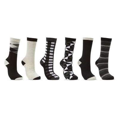 Mio Marino Women's Dress Crew Socks 6 Pack