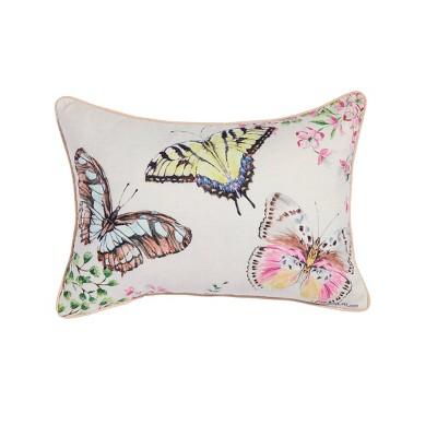"""14""""x20"""" Oversize Butterfly Lumbar Throw Pillow - Sure Fit"""