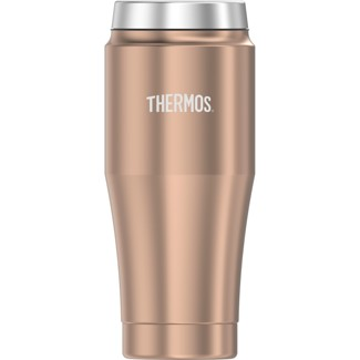 Thermos 16oz Stainless Steel Vacuum Insulated Coffee Travel Mug Rose Gold