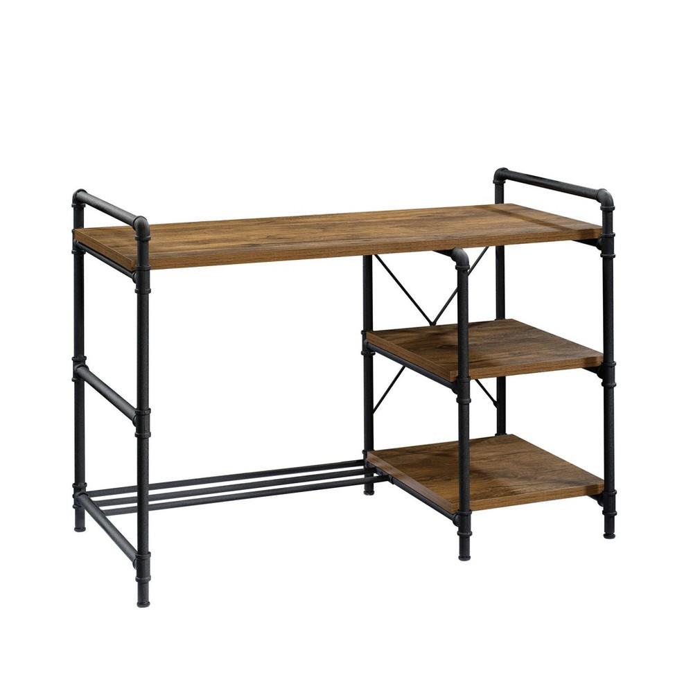 Iron City Desk Checked Oak - Sauder