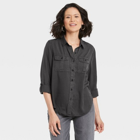 Women's Long Sleeve Button-Down Utility Shirt - Knox Rose™ - image 1 of 3