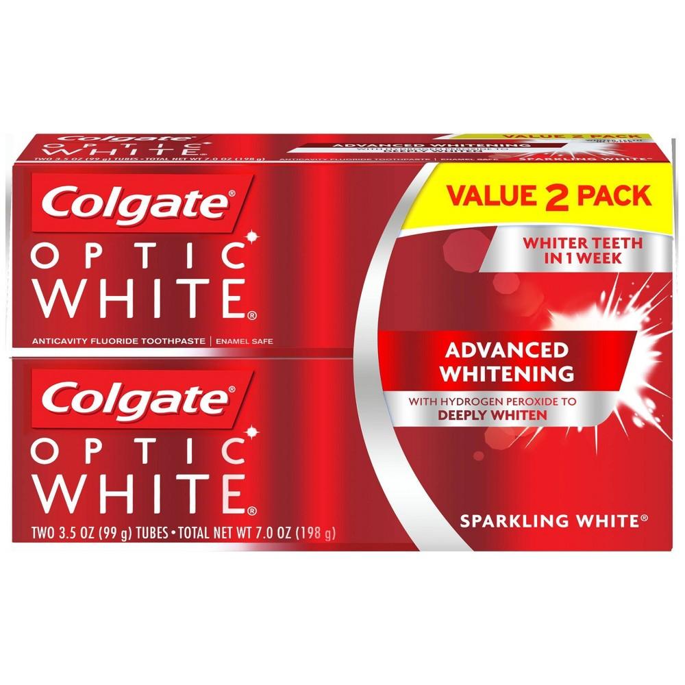Colgate Optic White Whitening Toothpaste Sparkling White - 3.5oz/2pk