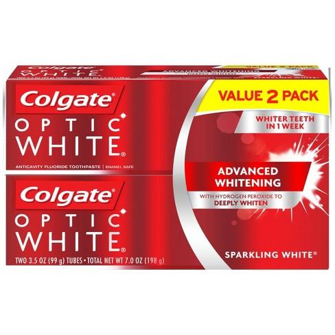 Colgate Optic White Whitening Toothpaste Sparkling White - 3.5oz/2pk - image 1 of 5
