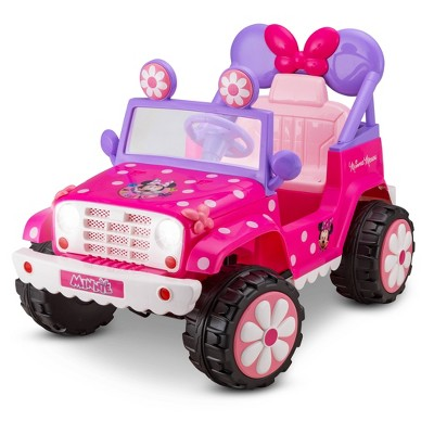 Kid Trax 6V Disney Minnie Mouse Flower Power 4x4 Powered Ride-On - Pink