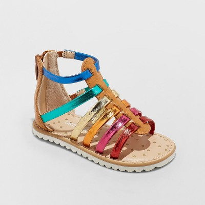 Toddler Girls' Fionna Gladiator Sandals - Cat & Jack™ Cognac 5
