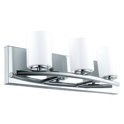 3-Light Abete Bath Glass Sconce Chrome - EGLO