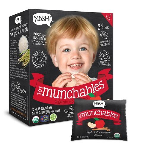Nosh Tot Munchables - Apple & Cinnamon, 2.12oz - 24ct - image 1 of 1