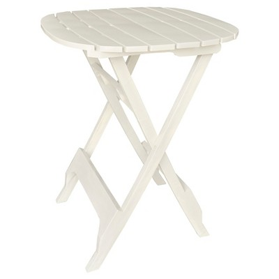 40  Quik Fold Bistro Table White - Adams