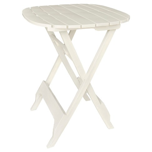 "40"" Quik Fold Bistro Table White - Adams - image 1 of 3"