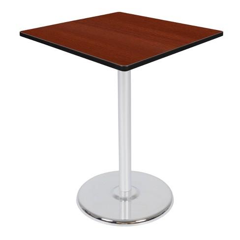 "36"" Via Cafe High Square Platter Base Table Cherry/Chrome - Regency - image 1 of 3"
