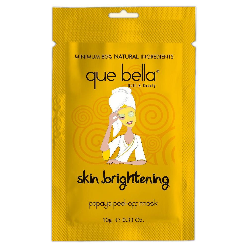 Que Bella Skin Brightening Peel-Off Mask - Papaya - 0.5oz, Yellow