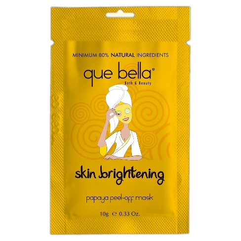 Que Bella® Skin Brightening Peel-Off Mask - Papaya - 0.5oz - image 1 of 3