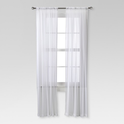 Chiffon Sheer Curtain Panel - Threshold™ - image 1 of 4