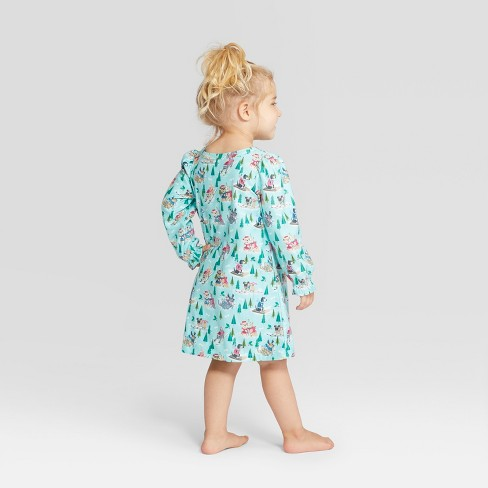 Toddler Holiday Sledding Dogs Notch Collar Mommy And Me Nightgown -  Wondershop™ Mint 2T   Target 2834b4bff