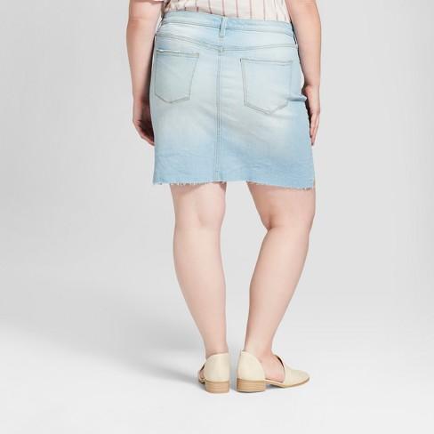 0c50dd50da Women s Plus Size Denim Mini Skirt - Universal Thread™ Light Wash ...