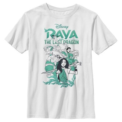 Boy's Raya and the Last Dragon Characters in Action T-Shirt