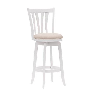"30"" Savana Wood Bar Height Swivel Stool White - Hillsdale Furniture"