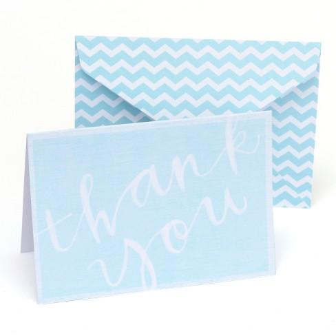 10ct Blue Gartner Thank You Cards With Envelopes Target