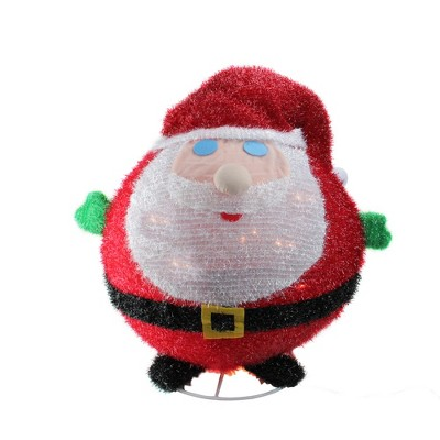 """Northlight 22"""" Pre-Lit Red and White Collapsible Christmas Santa Claus Outdoor Decor"""