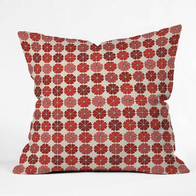 "16""x16"" Holli Zollinger Decoflower Throw Pillow Red - Deny Designs"