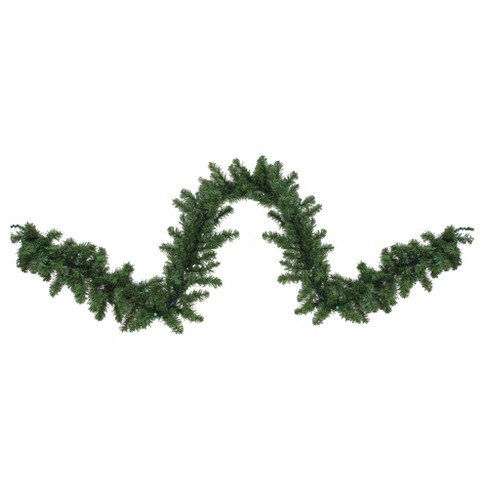 Northlight 9 X 10 Prelit Led Battery Operated Canadian Pine With Timer Artificial Christmas Garland Multi Lights