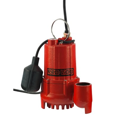 Red Lion 1/2 HP 4300 GPH Cast Iron Sump Pump with Tethered Float Switch 14942746