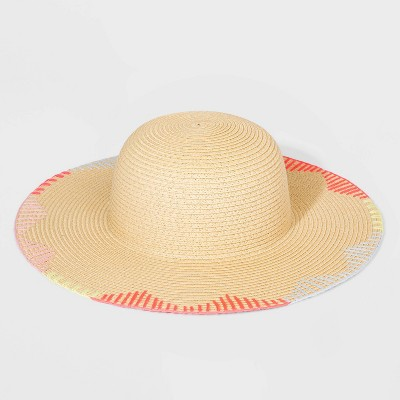 Girls' Straw Floppy Hat - Cat & Jack™ One Size