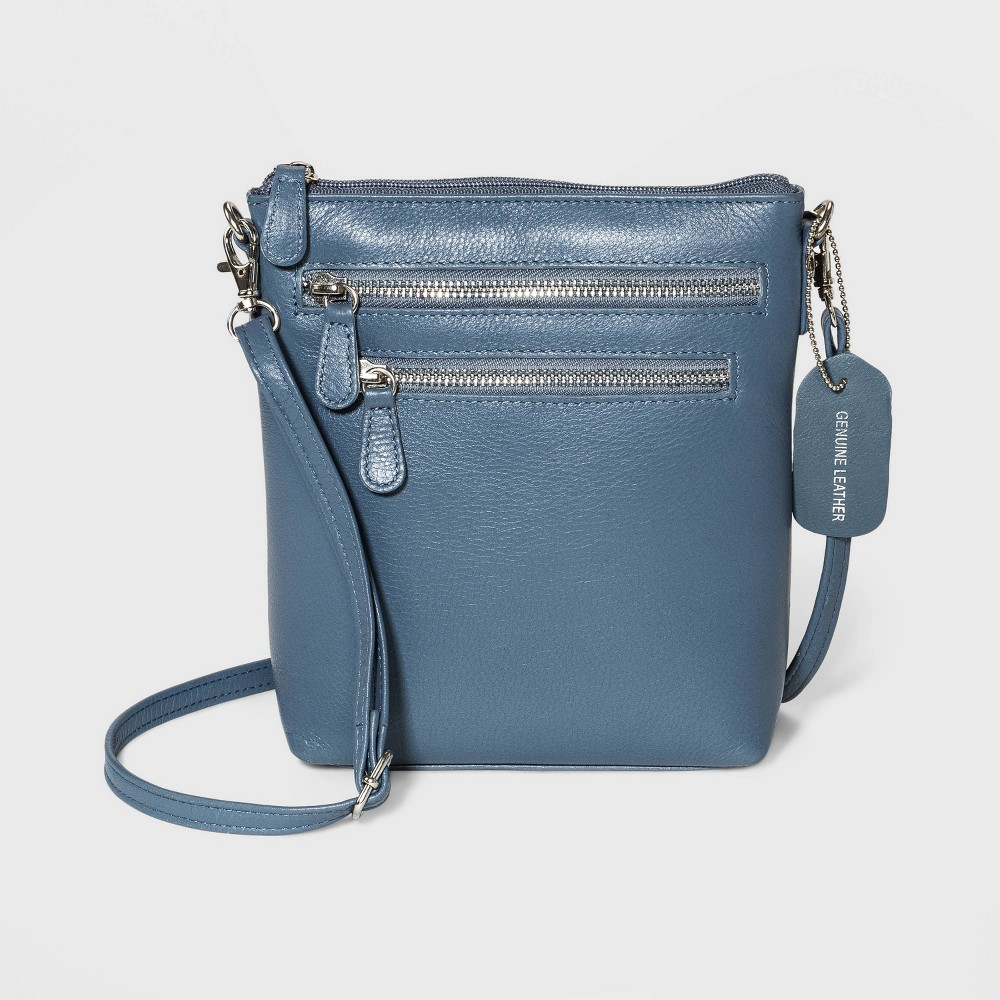 Image of Great American Leather Mini Crossbody Bag - Blue