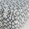 Cleo Storage Ottoman - Geometric Grey - Christopher Knight Home - image 3 of 4