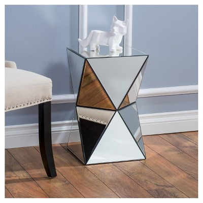 Etonnant Fairfax Mirrored End Table Silver   Christopher Knight Home : Target