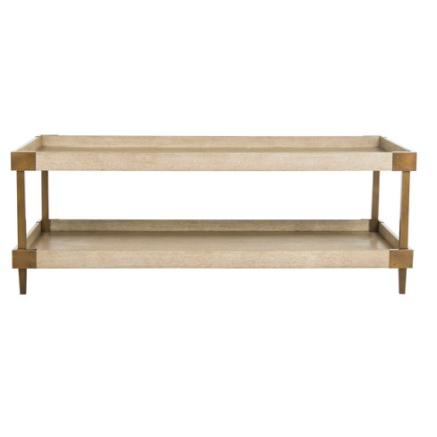Coffee Table Walnut - Safavieh - image 1 of 5