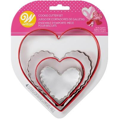4pk Metal Heart Cookie Cutters - Wilton