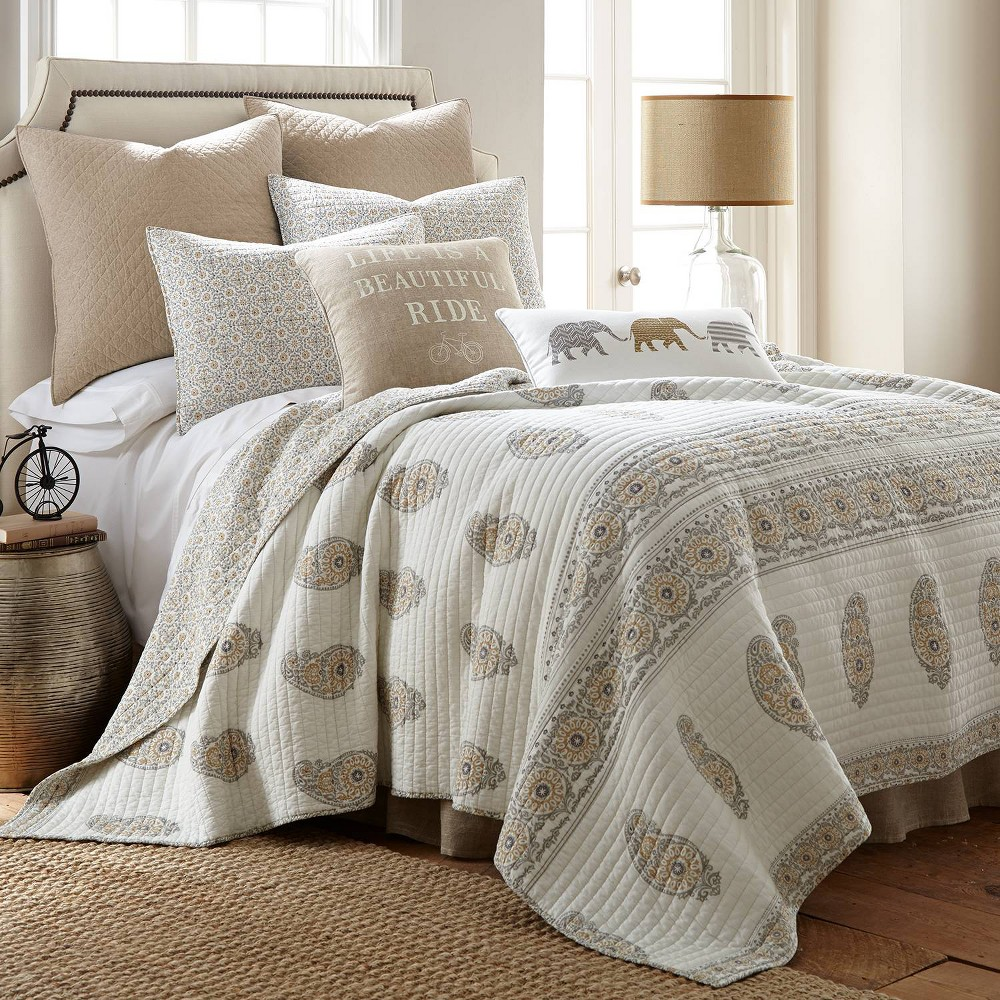Image of Full/Queen Kayma Quilt Set Taupe - Mudhut, Beige