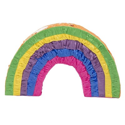 "Blue Panda Small LGBTQ Pride Rainbow Pinata, Kids Birthday Party Supplies Decorations, 16x10x3"""