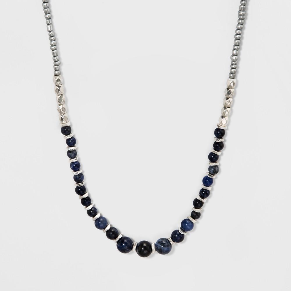 Beaded Semi-Precious Long Necklace - Universal Thread Sodalite