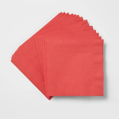60ct Lunch Disposable Napkin Red - Wondershop™