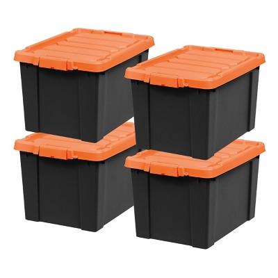 IRIS 4pk Plastic Storage Tote with Lid