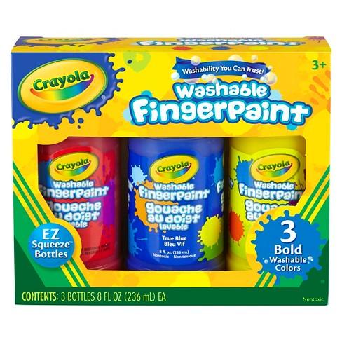 Crayola® Bold Washable Fingerpaint 3ct 8oz
