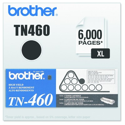 Brother TN460 High-Yield Toner, Black (TN460)