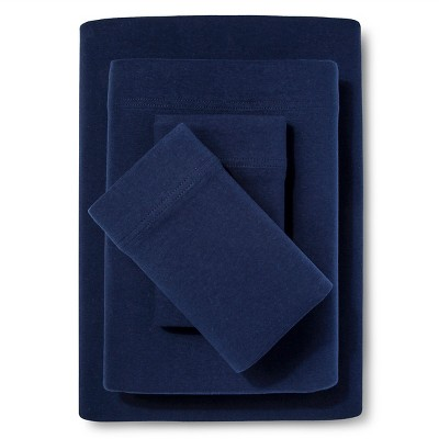 Jersey Sheet Set - (Queen)Navy - Room Essentials™