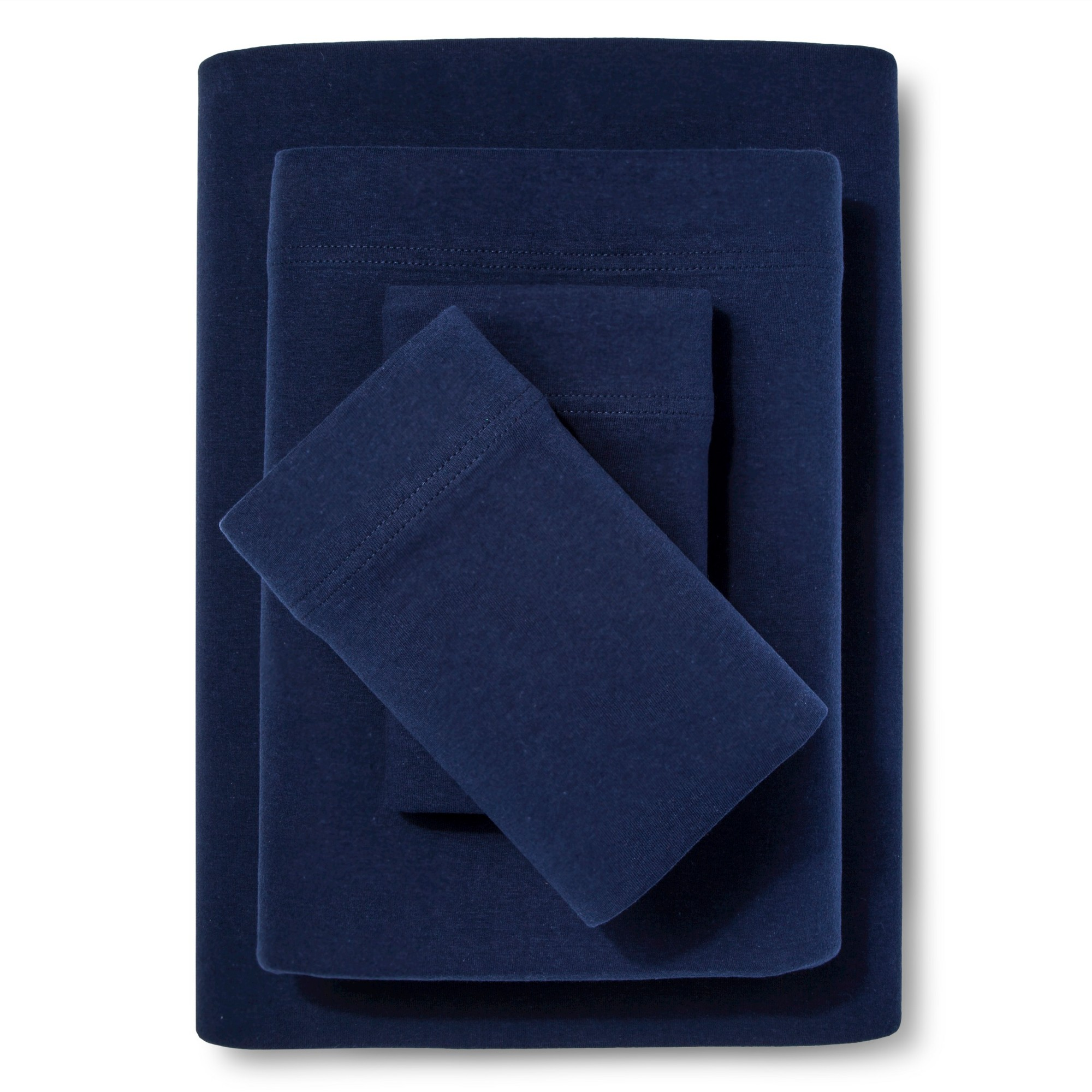 Jersey Sheet Set - (Full) Navy - Room Essentials , Solid Blue
