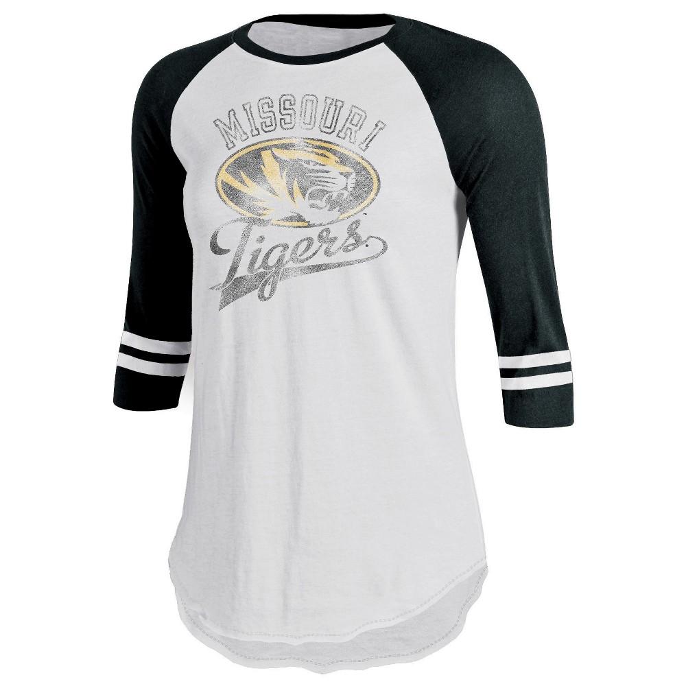 Missouri Tigers Women's Retro Tailgate White/3/4 Sleeve T-Shirt L, Multicolored