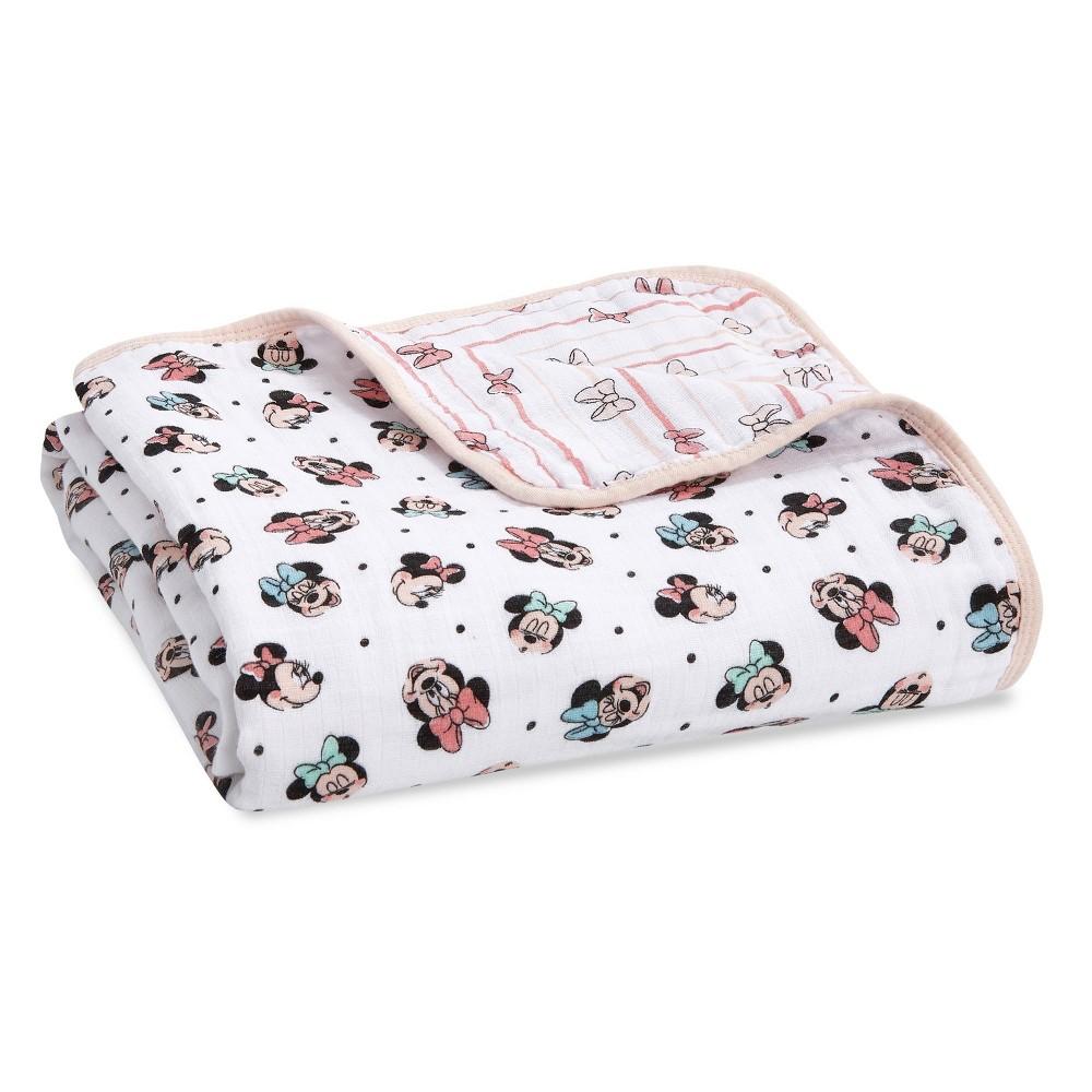 Image of Aden + Anais Essentials Disney Baby Muslin Blanket - Minnie Rainbows