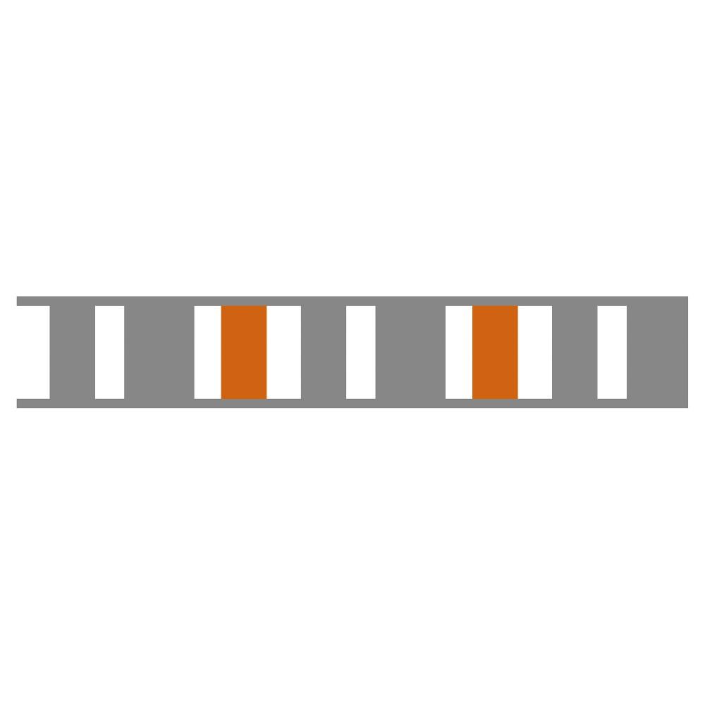 Gray & Orange Stripe Wall Border - Sweet Jojo Designs