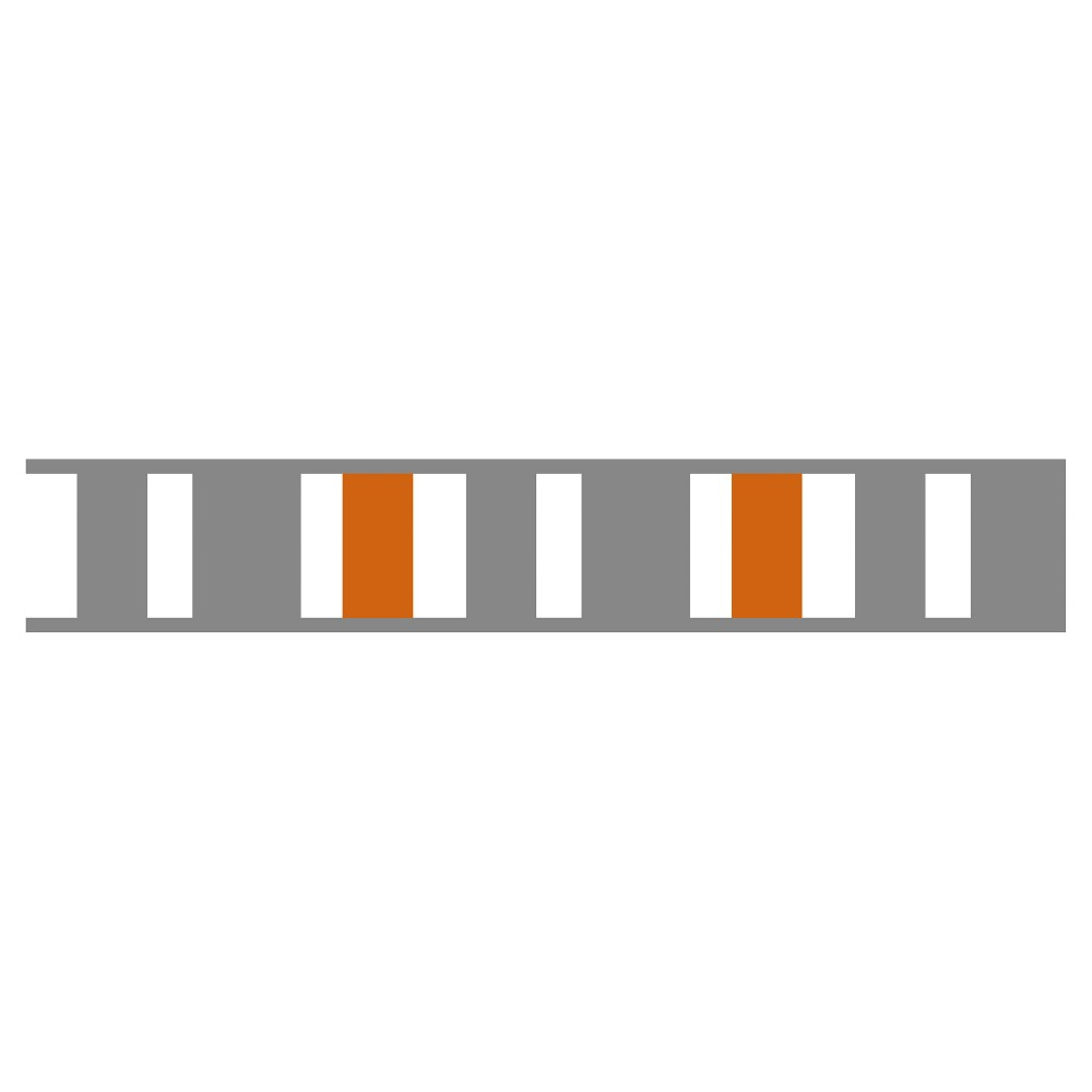 Gray & Orange Stripe Wall Border - Sweet Jojo Designs